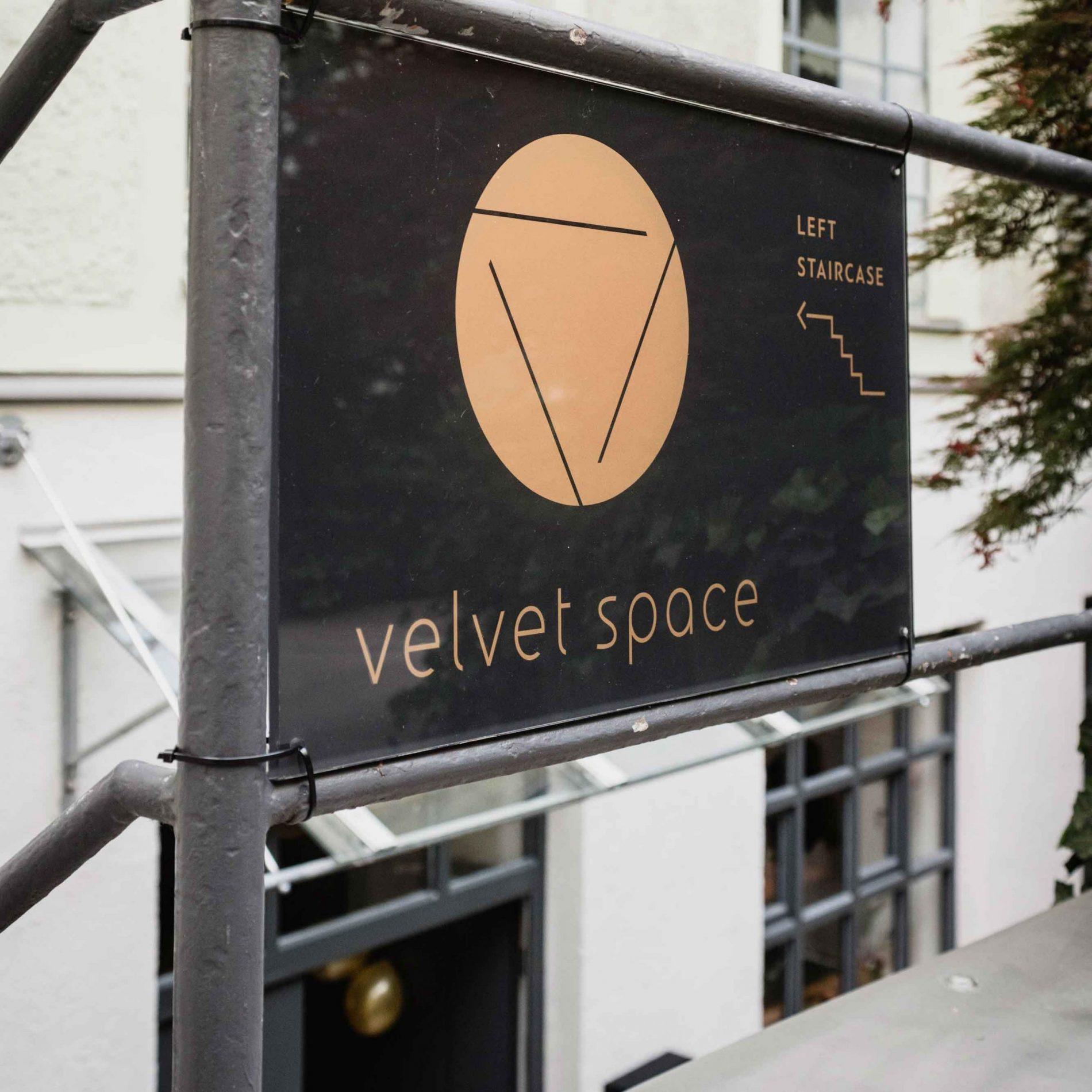 velvet space sign